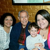 Lisa Cardenas with family